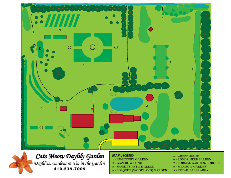 Gardens - layout plan